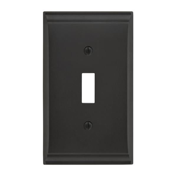 Amerock Bronze 1 Gang Toggle Wall Plate 1 Pack 1906986 The Home Depot