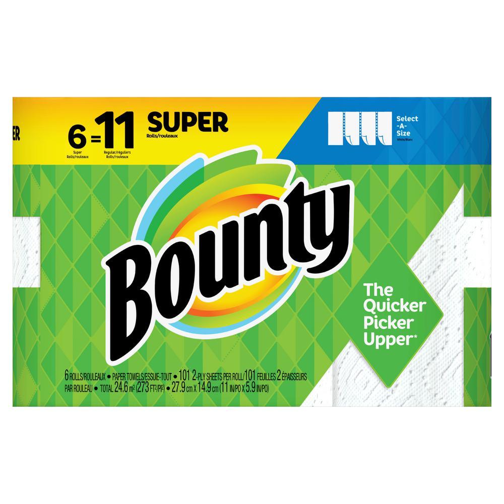 Select-A-Size White Paper Towels (6 Super Rolls=11 Regular Rolls)