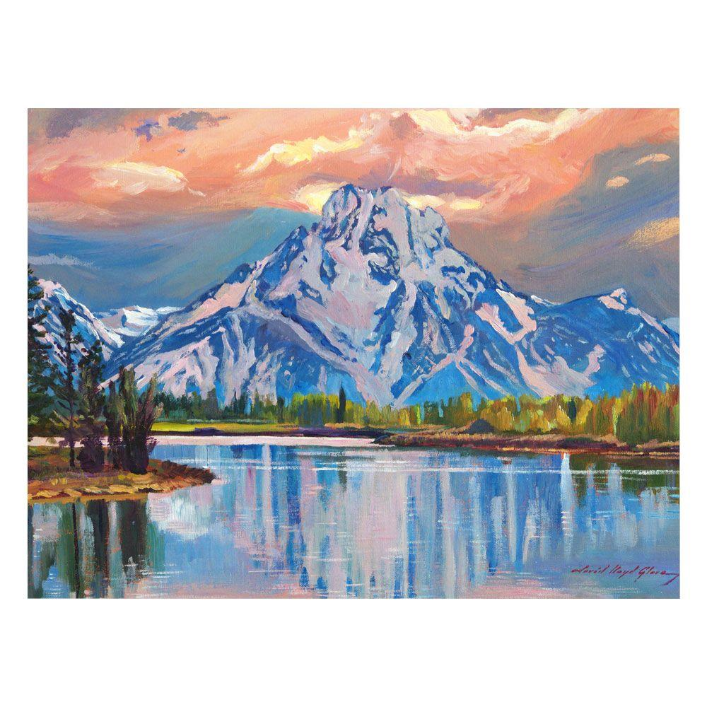 24 in. x 32 in. Majestic Blue Mountain Canvas Art