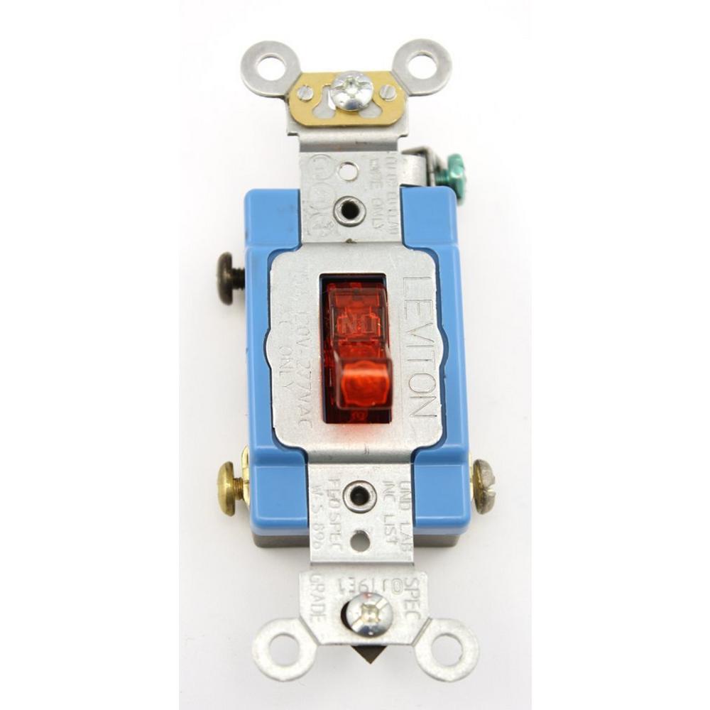 Leviton 15 Amp Industrial Grade Heavy Duty Single-Pole Pi...
