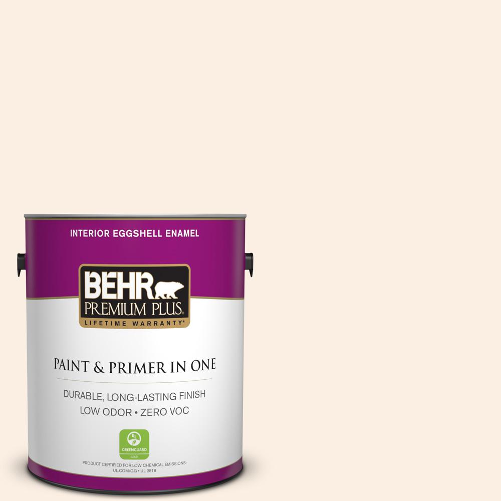BEHR Premium Plus 1-gal. #PWN-24 Soft Gossamer Zero VOC Eggshell Enamel Interior Paint