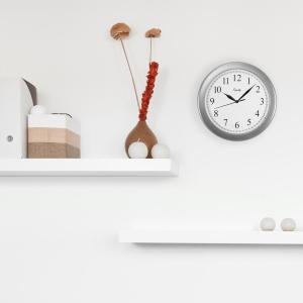 10 in. Silver Quartz Wall Clock