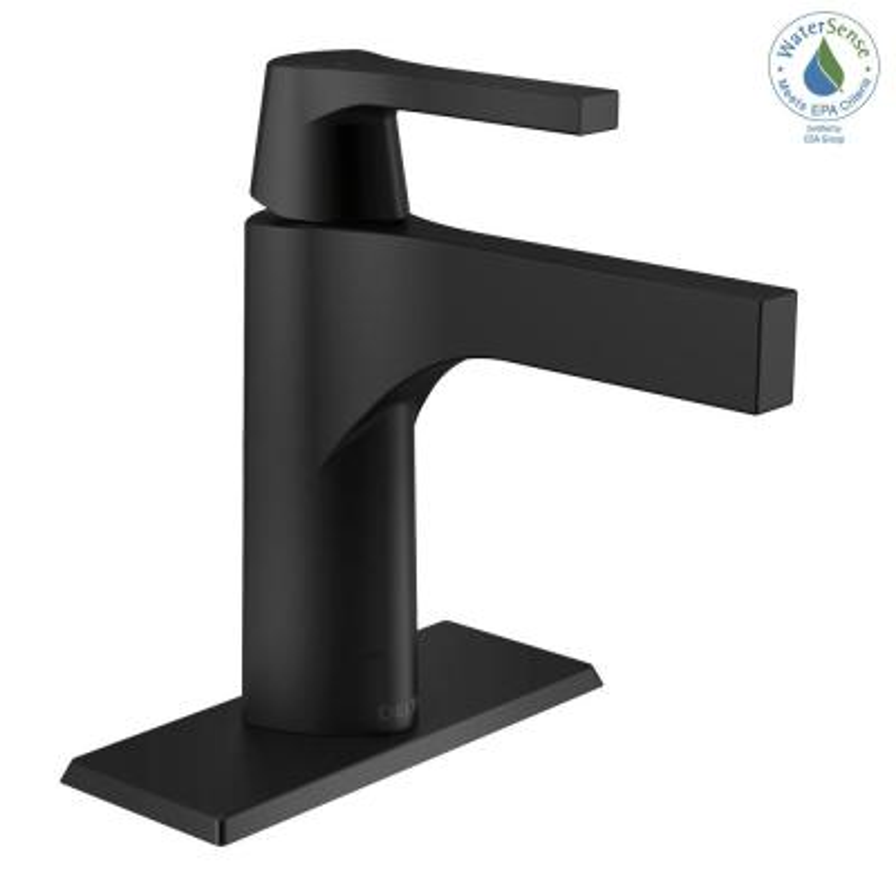 Zura Single Hole Single-Handle Bathroom Faucet in Matte Black
