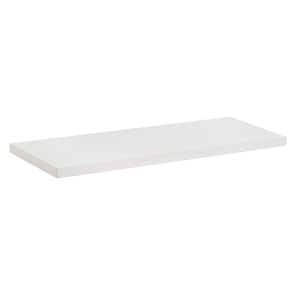 Dolle 32 in. x 3/4 in. x 10 in. Lite Shelf in White