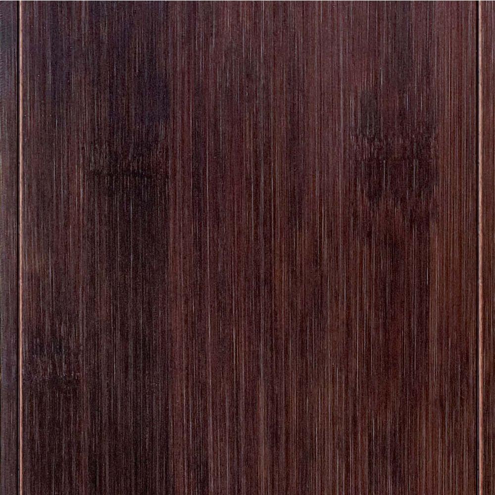 Home Legend Hand Scraped Horizontal Walnut 3/8 in. T x 4-3/4 in. W x 47-1/4 in. Length Click Lock Bamboo Flooring (24.94 sq. ft./cs)