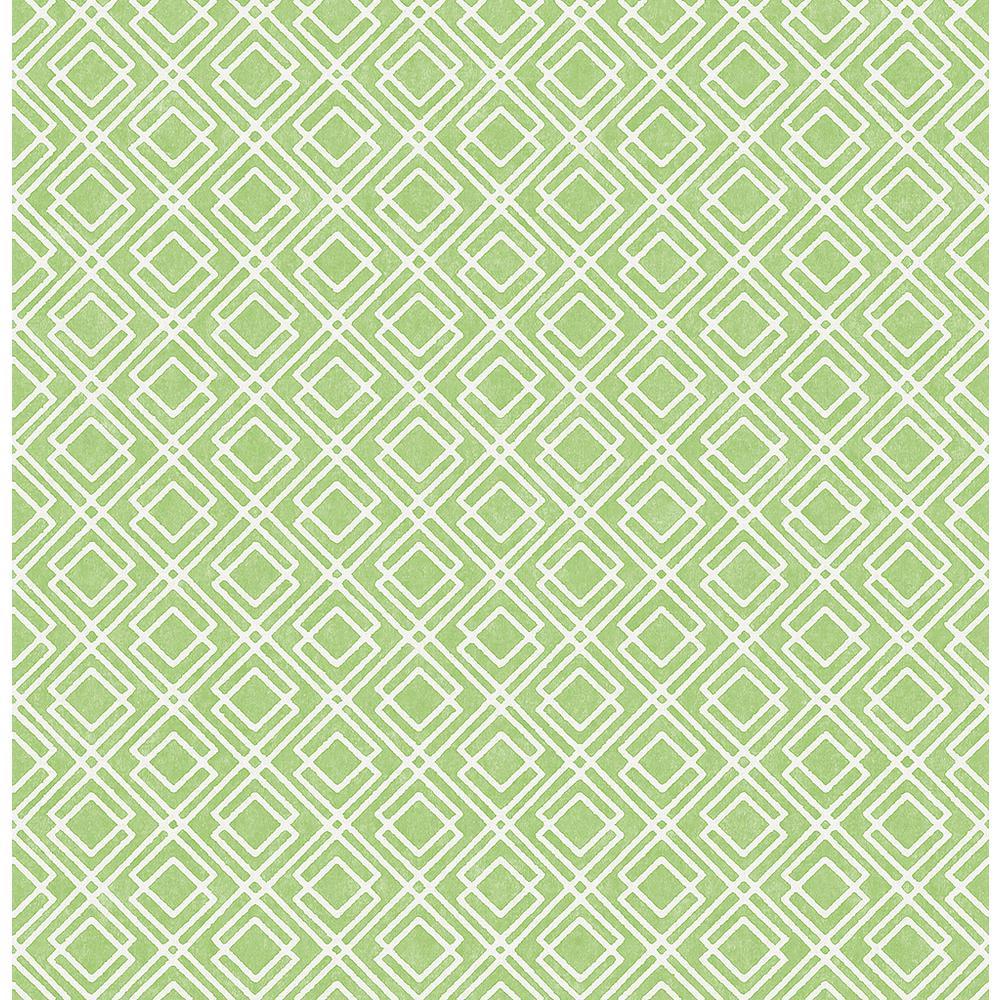 Napa Green Geometric Wallpaper Sample