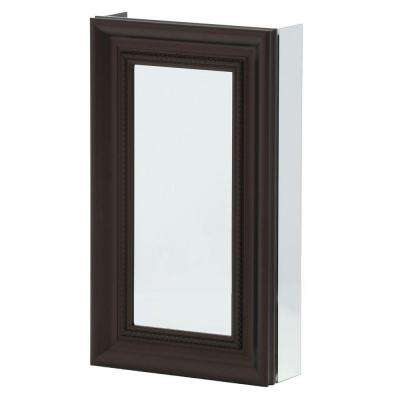 15 in. x 26 in. Framed Recessed or Surface-Mount Bathroom Medicine Cabinet in Oil Rubbed Bronze