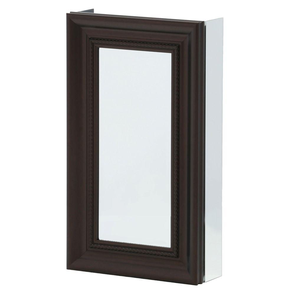 Pegasus 15 in. x 26 in. Framed Recessed or Surface-Mount Bathroom Medicine Cabinet in Oil Rubbed Bronze