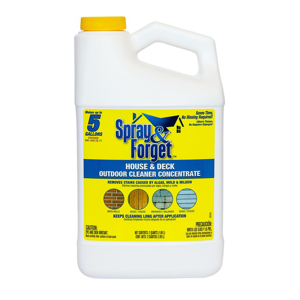Spray & Forget 64 oz. House and Deck Outdoor Mold and Mildew Cleaner Concentrate