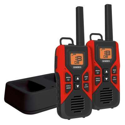 2-Pack 30-Mile GMRS/FRS Radio w/121 Privacy Codes and Weather Alert and Charge Cradle
