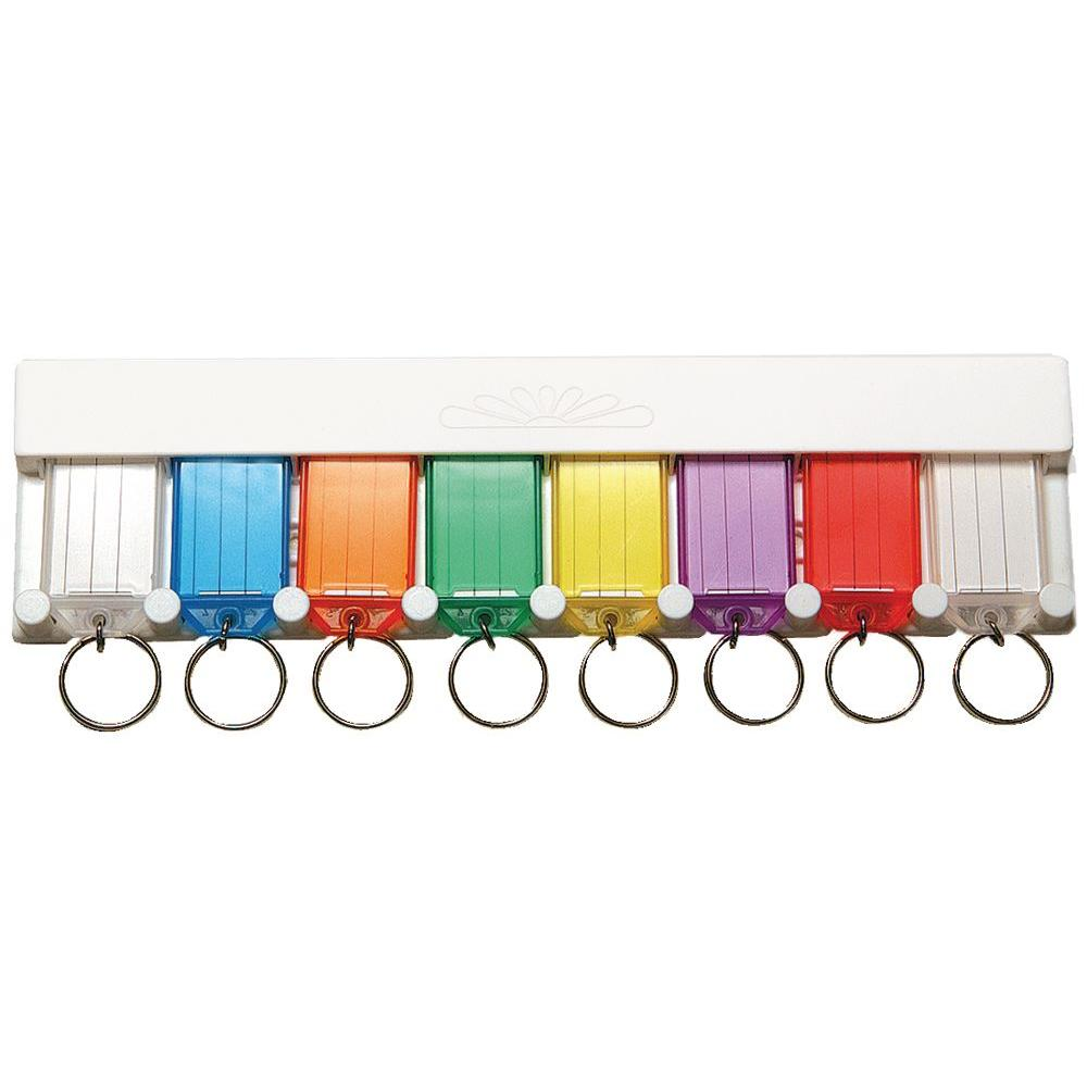 Plastic Key-ID Tag Assortment (8-Pack)