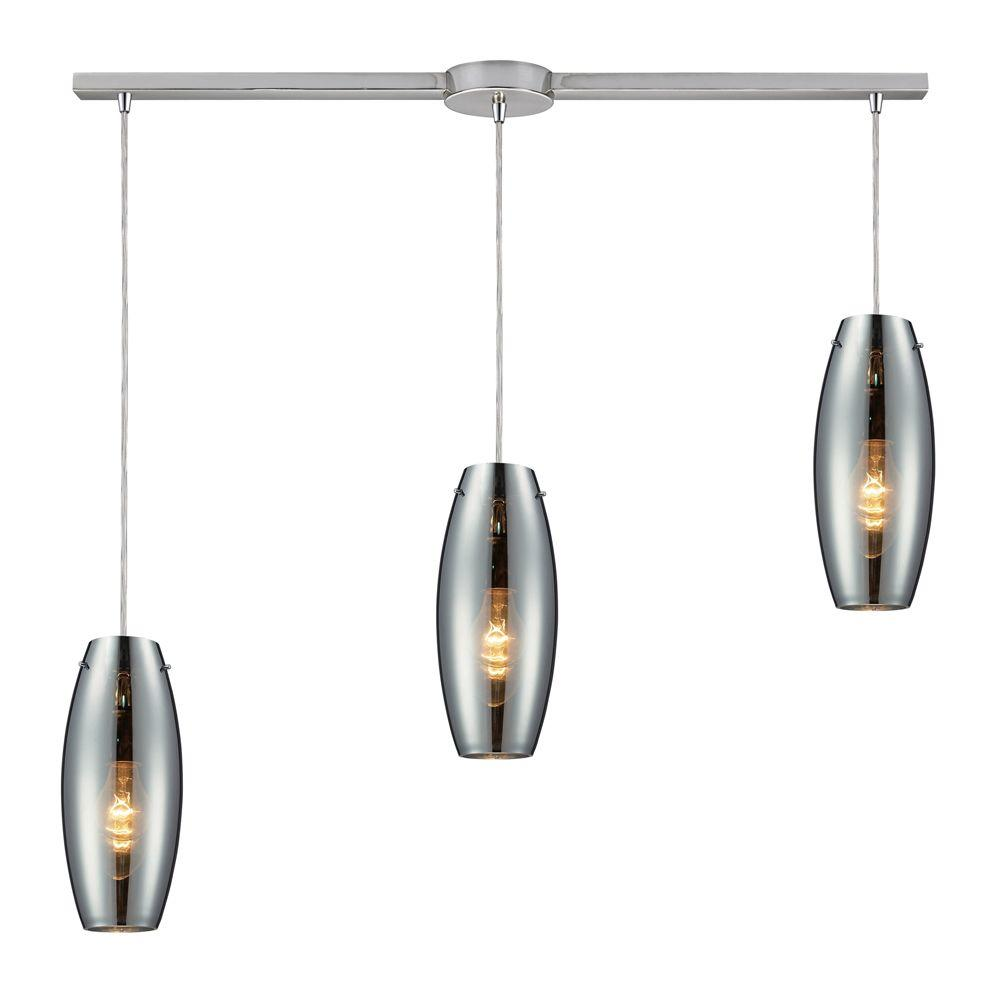 Menlow Park 3-Light Polished Chrome Ceiling Mount Pendant