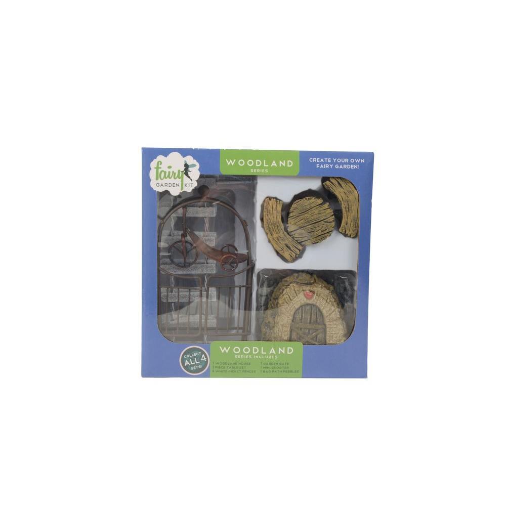 Woodland Polyresin Fairy Garden Kit (11-Piece)