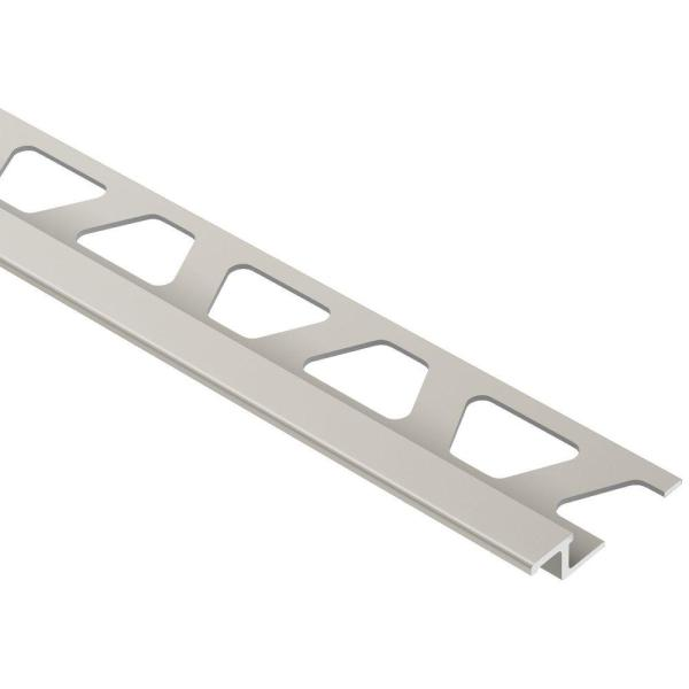 Reno-TK Satin Nickel Anodized Aluminum 1/4 in. x 8 ft. 2-1/2 in. Metal Reducer Tile Edging Trim