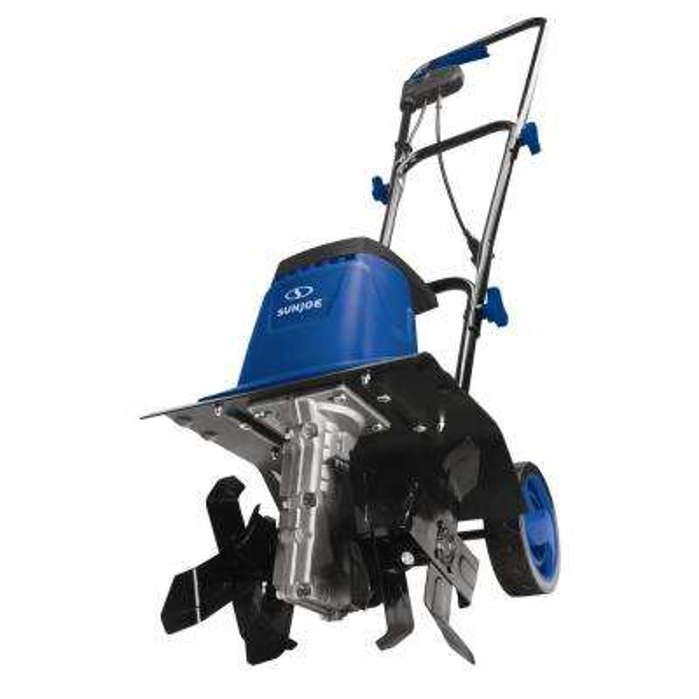 8-Amp 12-In Electric Tiller/Cultivator, Blue