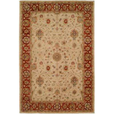Empire Ivory/Rust 2 ft. x 3 ft. Area Rug