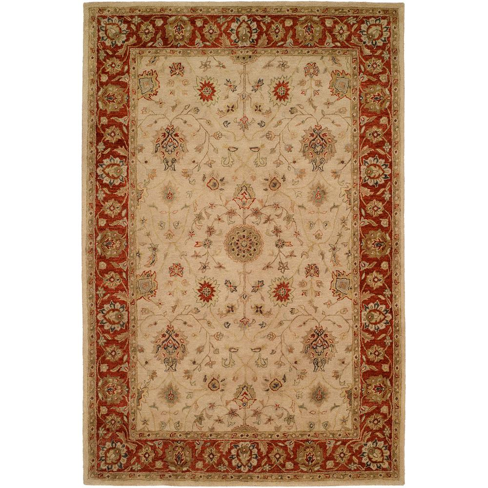 Empire Ivory/Rust 8 ft. x 10 ft. Area Rug