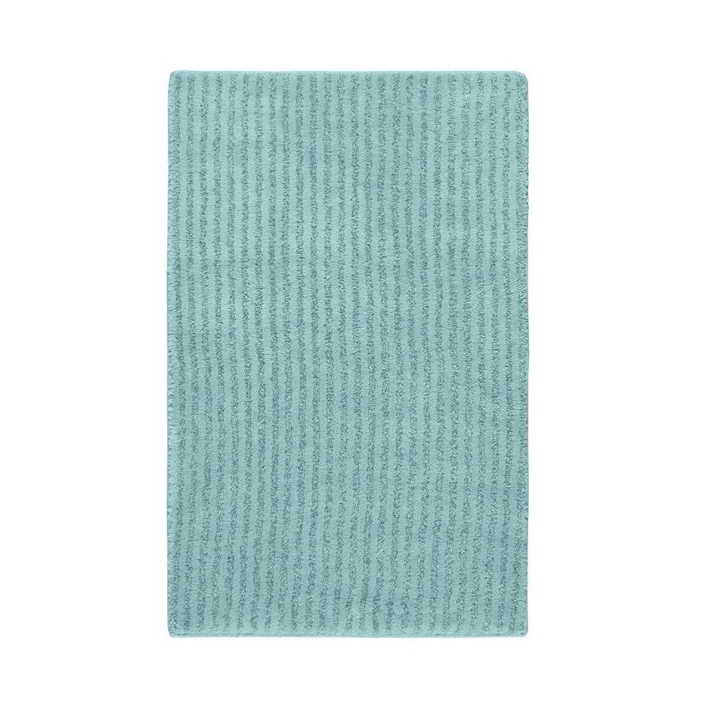 Sheridan Sea Foam 24 in. x 40 in. Washable Bathroom Accent Rug