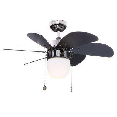 Turbo Swirl CFL 30 in. Indoor Gun Metal Ceiling Fan