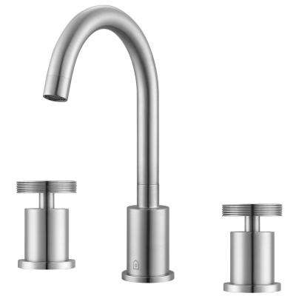 Nova 8 in. Widespread 2-Handle Bathroom Faucet in Brushed Nickel