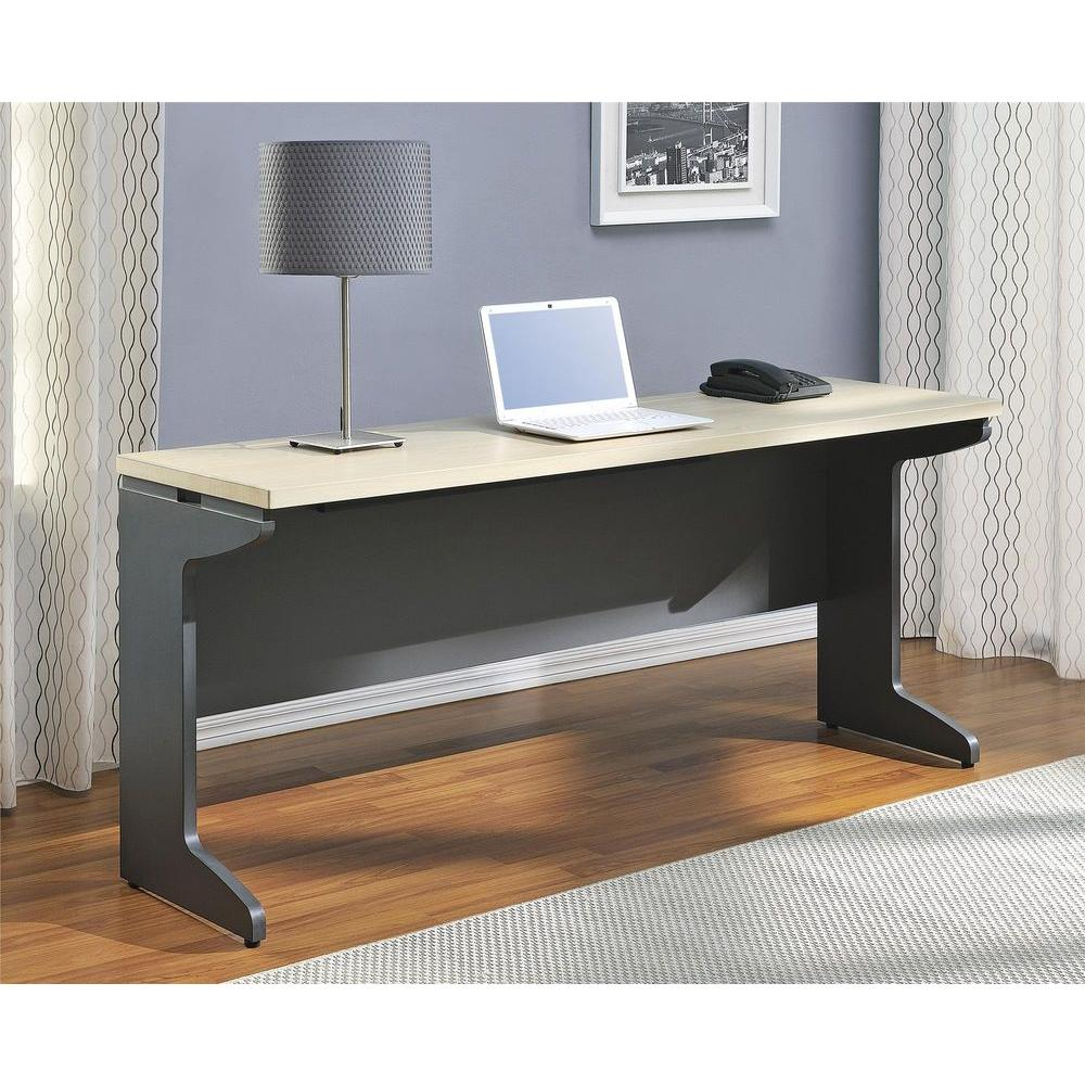 Altra Furniture Pursuit Natural and Gray Desk