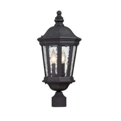 Tottington 2-Light Outdoor Black Post Lantern