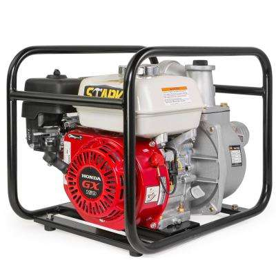 5.5 HP 3 in. Gas-Powered Non-Submersible Semi-Trash Water Pump with Honda GX160 Engine