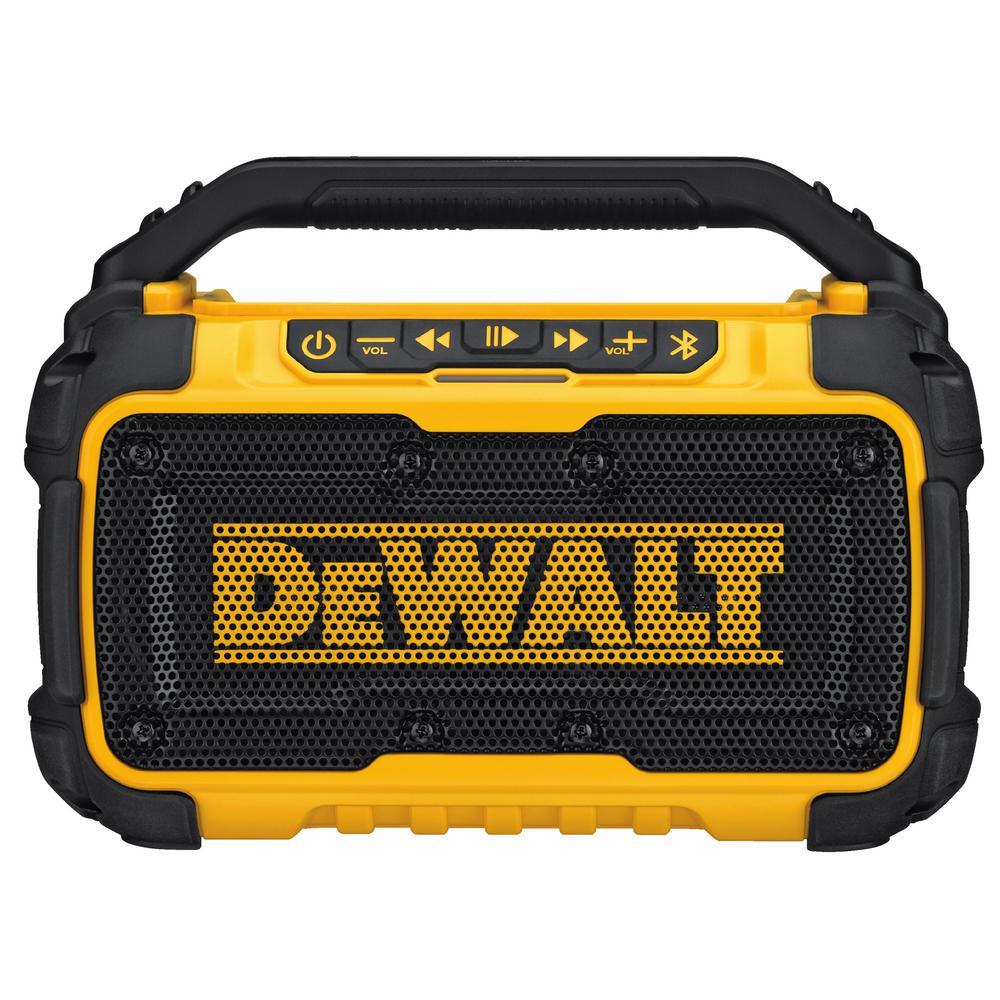 Dewalt 20 Volt Max Bluetooth Speaker Dcr010 The Home Depot