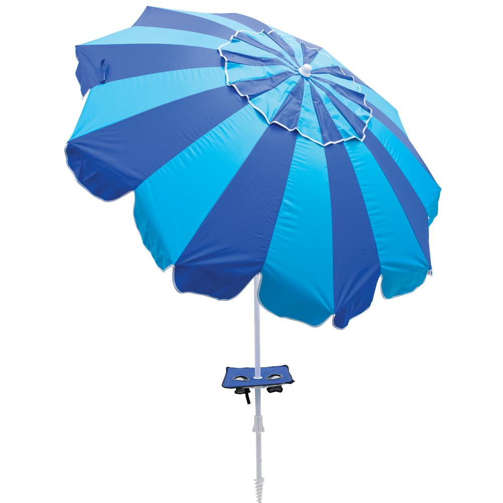 7ee54b33b490 Rio 7 ft. Beach Market Umbrella with Built-in Sand Anchor-UBT723 ...