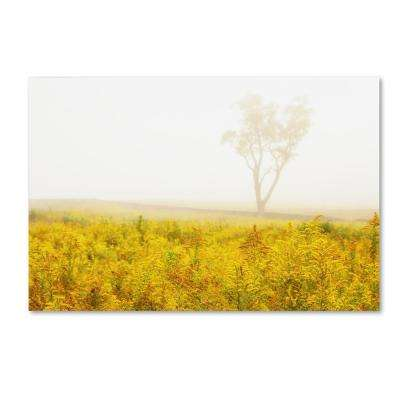 """30 in. x 47 in. """"Dreams of Goldenrod and Fog"""" by PIPA Fine Art Printed Canvas Wall Art"""