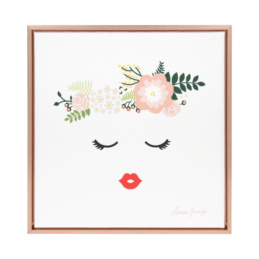 "Sylvie ""Flower Crown"" by Yellow Heart Art Framed Canvas Wall Art"