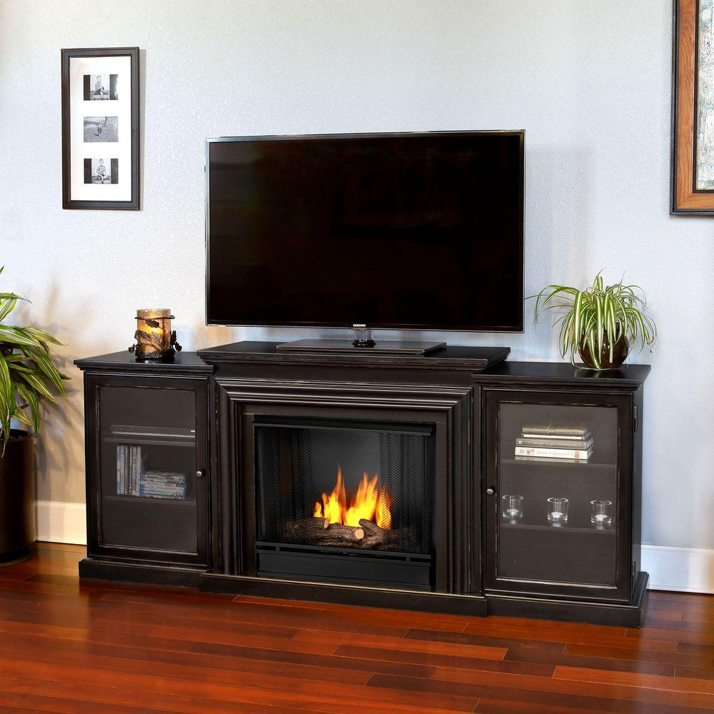 Real Flame Frederick Entertainment 72 in. Media Console V...