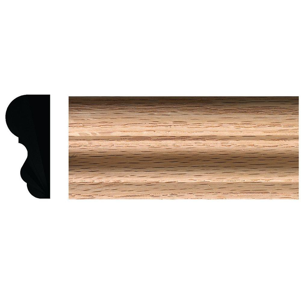 Ornamental Mouldings 3/4 In. X 1-3/4 In. Red Oak Colonial