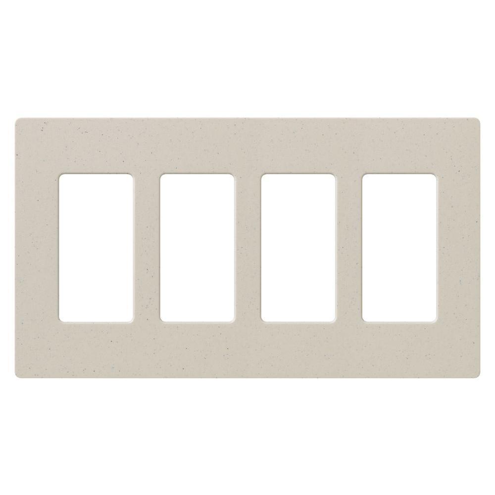 Lutron Claro 4 Gang Decora Wall Plate White