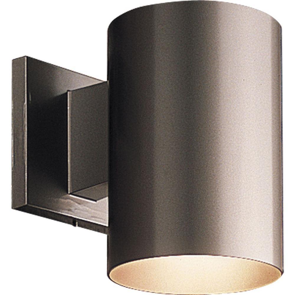 1-Light Antique Bronze Integrated LED Outdoor Wall Mount Cylinder Light