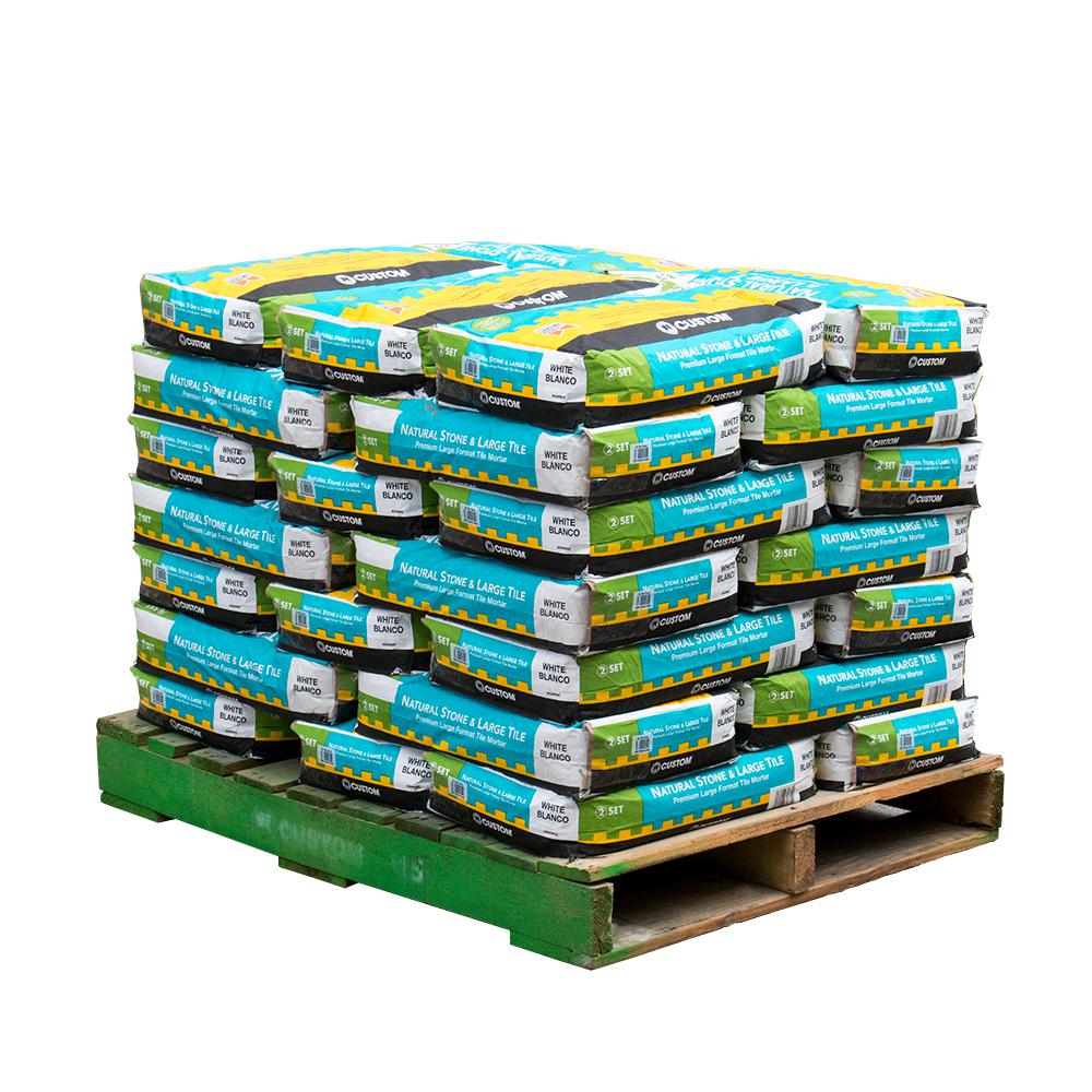 Custom Building Products Natural Stone and Large Format Tile 50 lbs. White Premium Mortar (35 bags/3500 sq. ft./pallet)