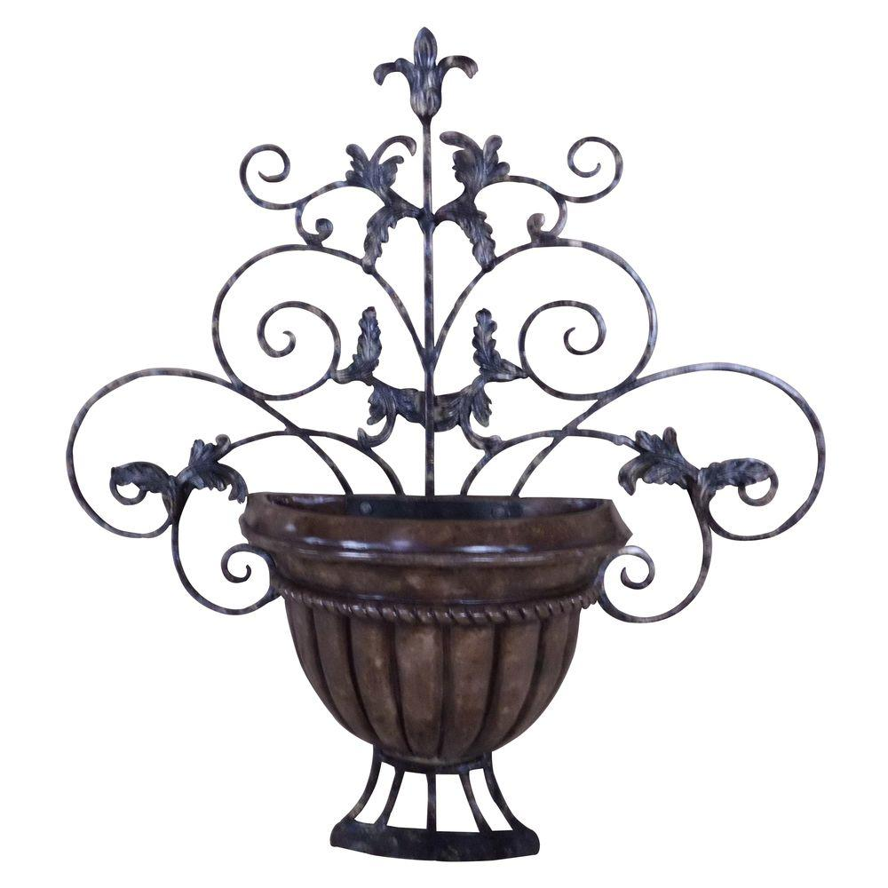 Yosemite Home Decor 31.1 in. x 29 in. Iron Decor Accent Wall Hanging