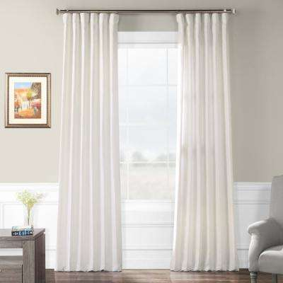 Ancient Ivory French Linen Curtain - 50 in. W x 108 in. L