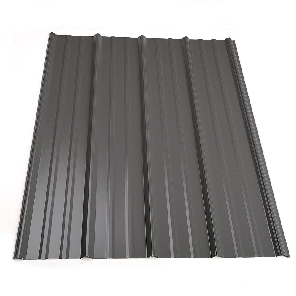 Metal Sales 12 ft. Classic Rib Steel Roof Panel in Charcoal