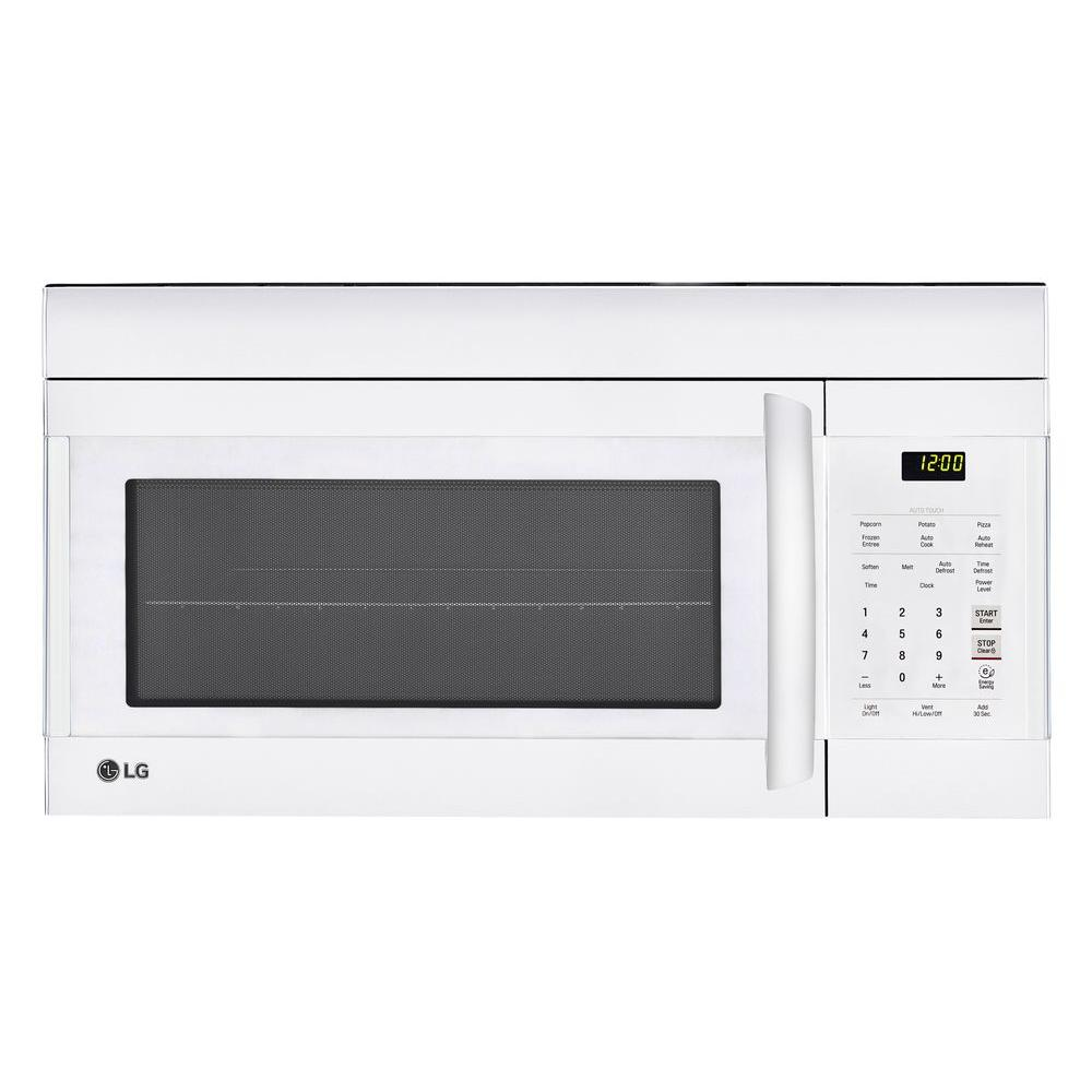 LG 1.7 cu. ft. Over the Range Microwave Oven in White wit...