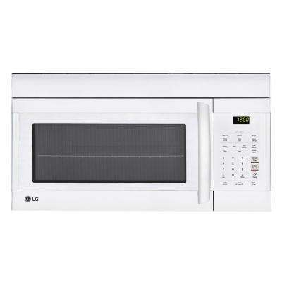 1.7 cu. ft. Over the Range Microwave Oven in White with EasyClean Interior
