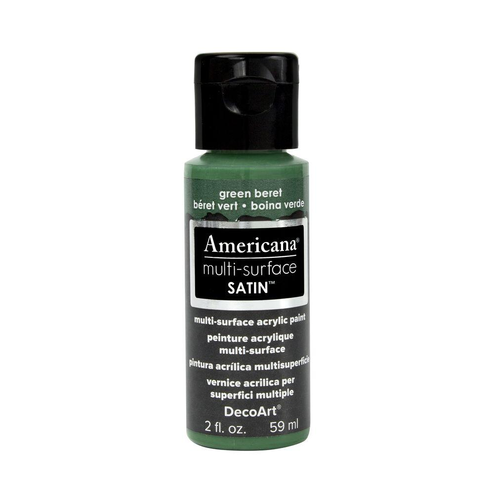 DecoArt Americana 2 oz. Green Beret Satin Multi-Surface Acrylic Paint