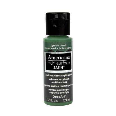 Americana 2 oz. Green Beret Satin Multi-Surface Acrylic Paint