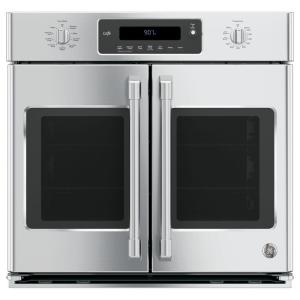 30 in. Smart Single Electric French-Door Wall Oven Self-Cleaning with Convection in Stainless Steel