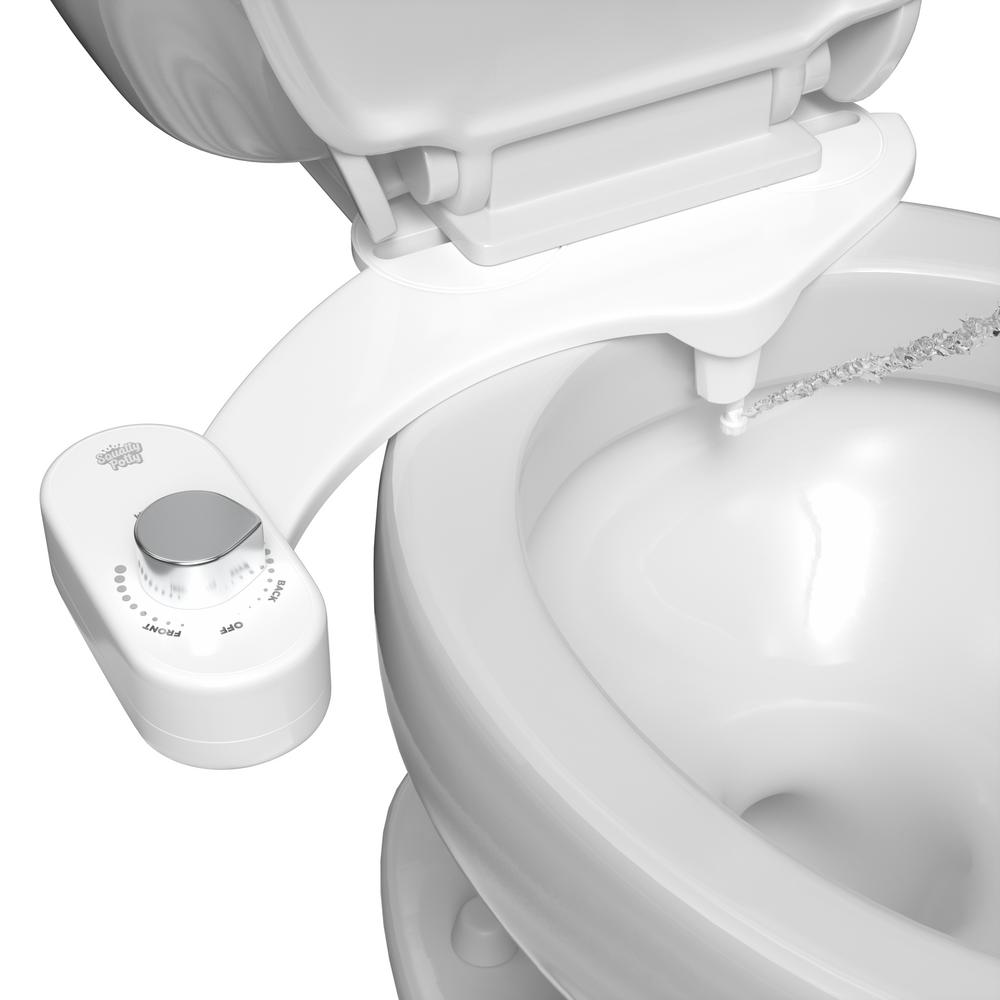 Squatty Potty Refresh It Dual Stream Non Electric Bidet System In White Sp Sba The Home Depot