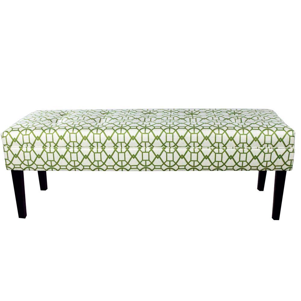 Kaya Noah Summer On Tufted Upholstered Bench