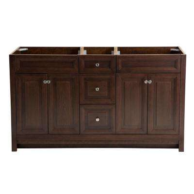Brinkhill 60 in. W x 21.6 in. D x 34 in. H Vanity Cabinet in Cognac