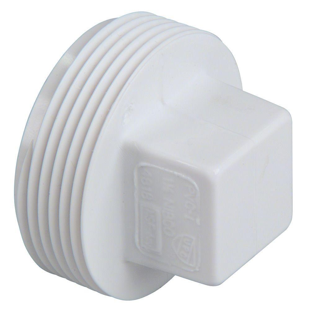 Nibco 3 4 In Pvc Dwv Mipt Cleanout Plug Pvc Plug For