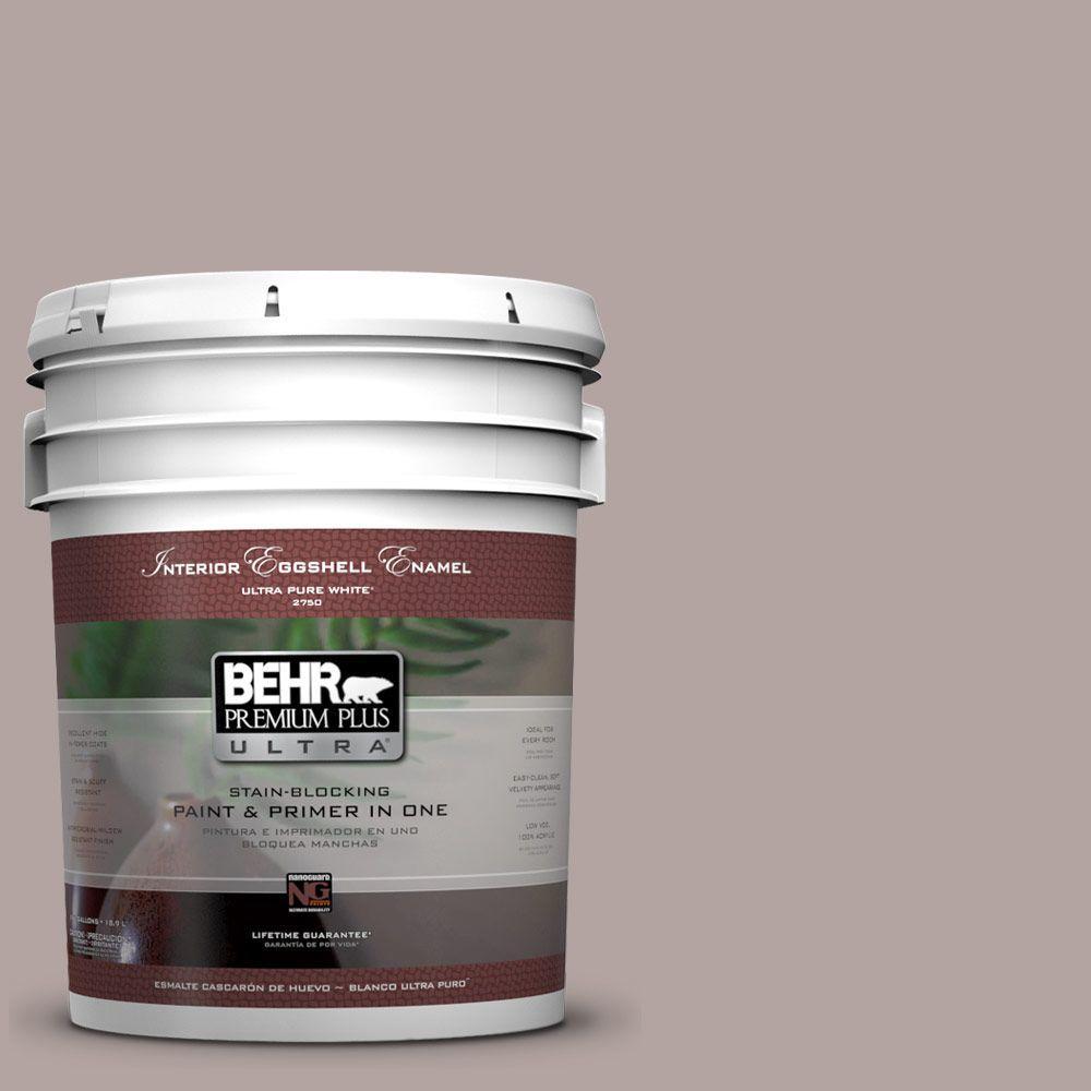 BEHR Premium Plus Ultra 5-gal. #780B-4 Slate Pebble Eggshell Enamel Interior Paint