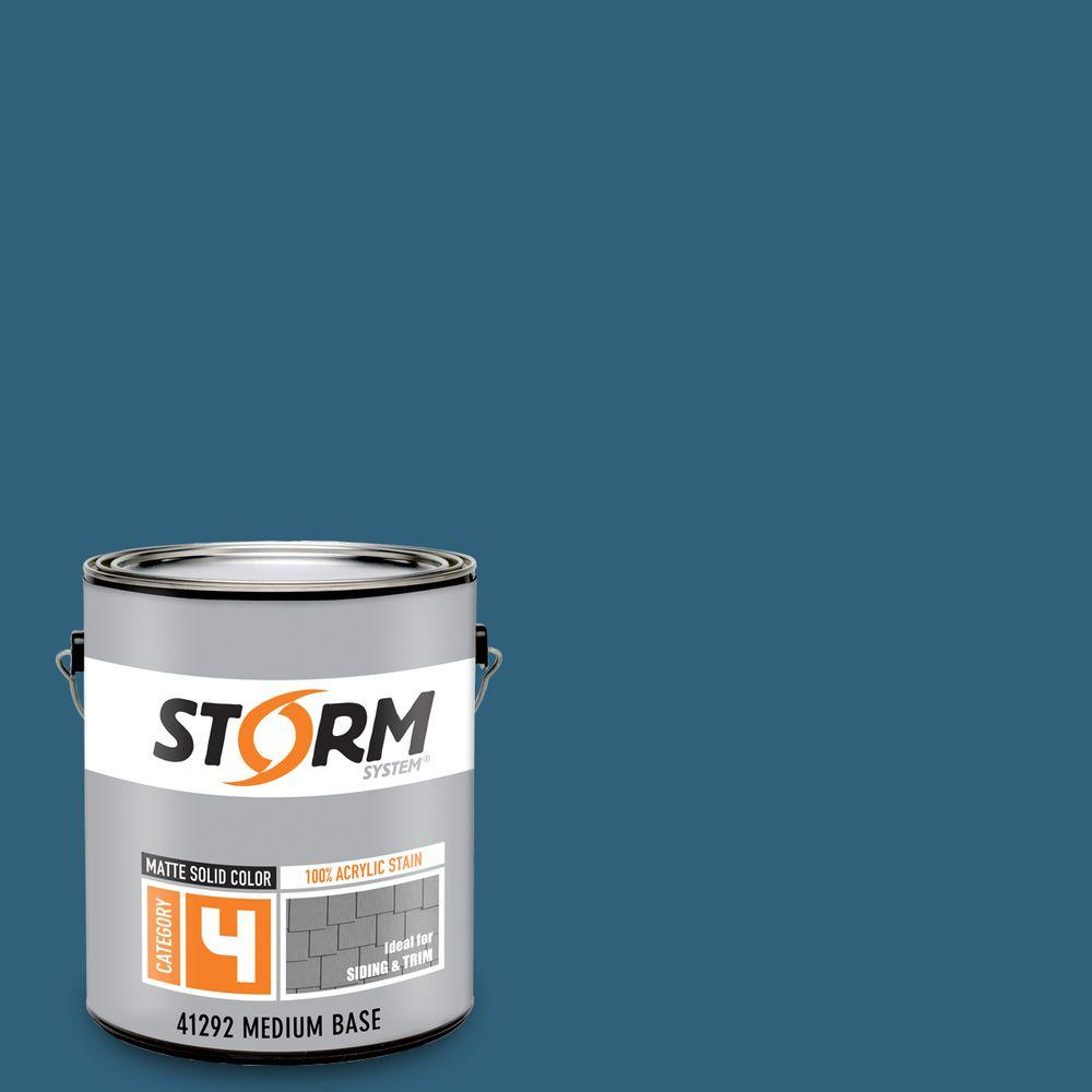 Storm System Category 4 1 gal. Bar Harbor Matte Exterior Wood Siding 100% Acrylic Latex Stain